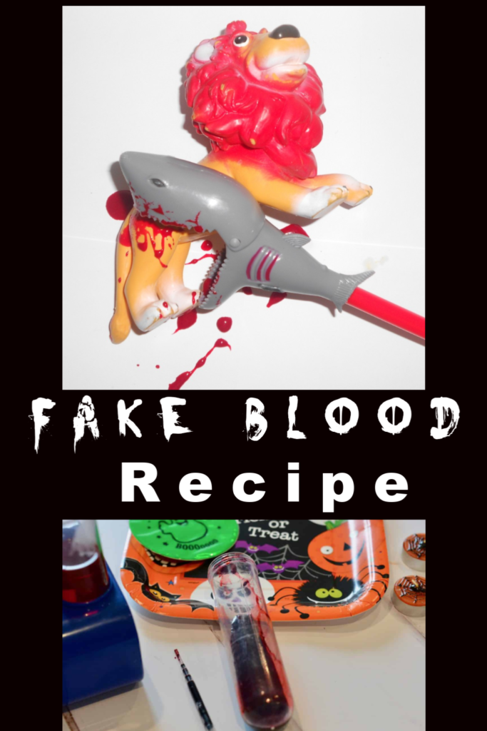 Fake Blood Recipe - Make taste safe fake blood for #Halloween #Halloweenscience #scienceforkids