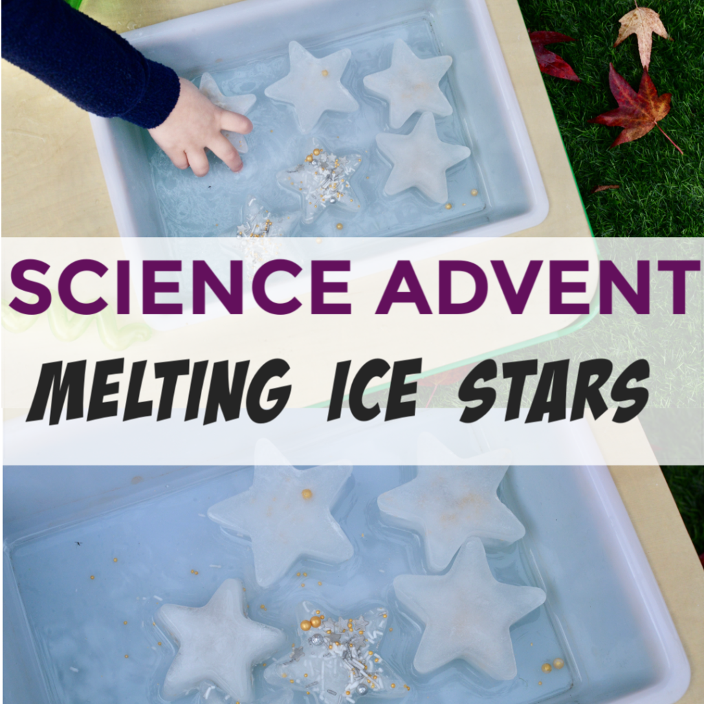 Ice Stars for ice activities for kids #winterscience #iceactivities #ice #iceexperiments #scienceforkids