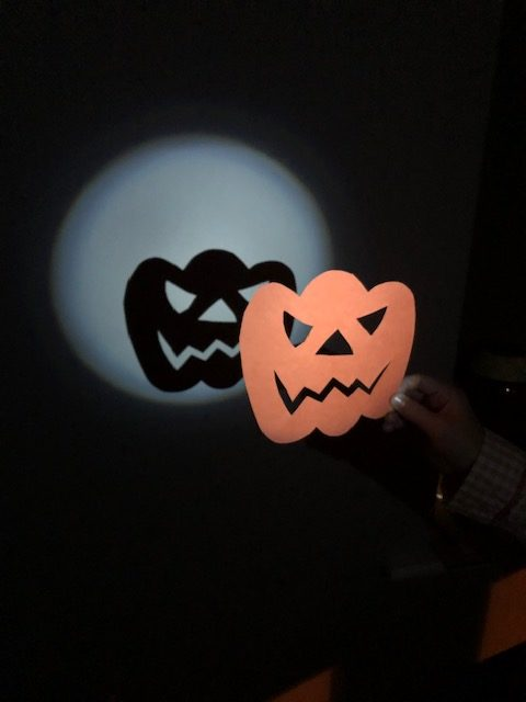 pumpkin shadow puppet