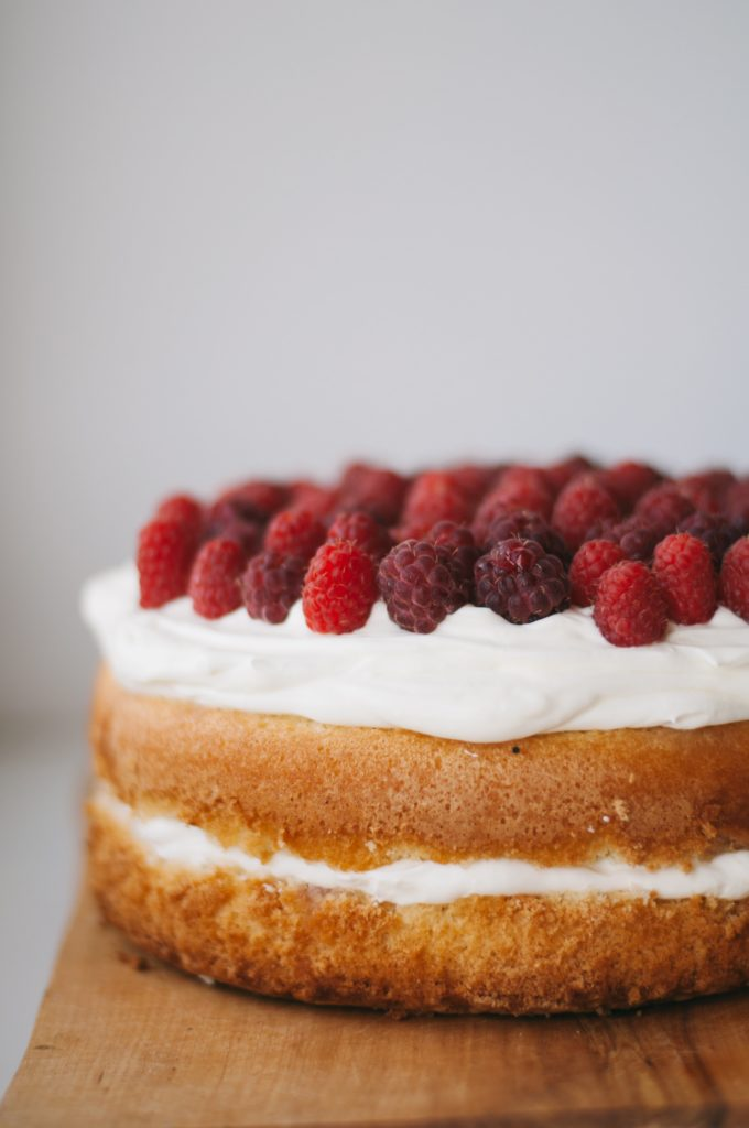 Gorgeous raspberry cake