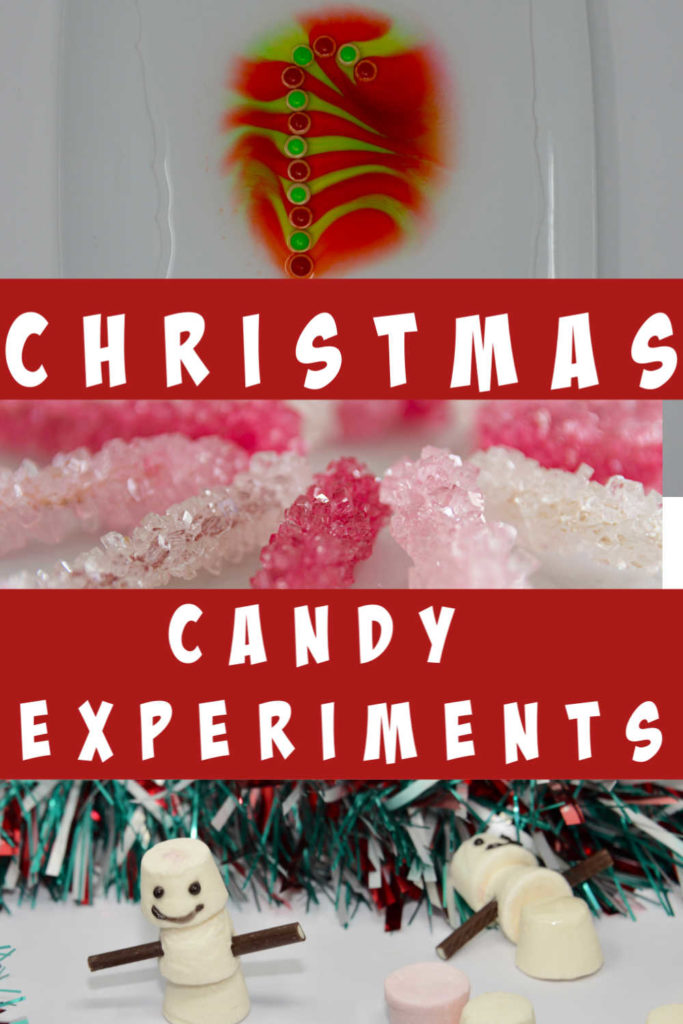 Awesome collection of Christmas Candy Experiments for kids #ChristmasScience #ChristmasCandy #ChristmasExperiments
