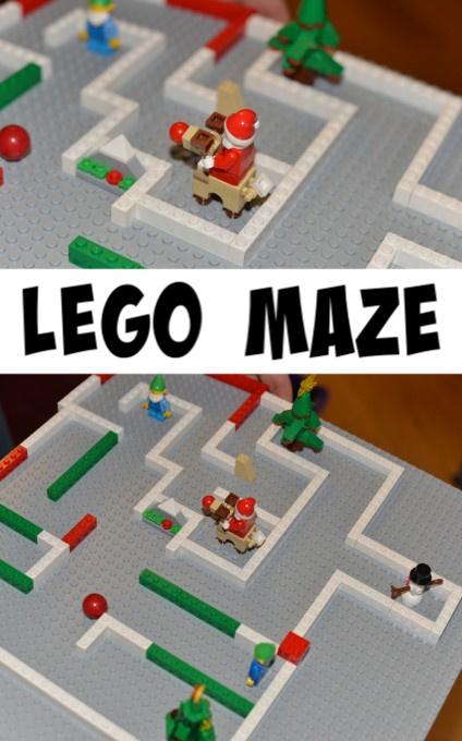 Christmas LEGO maze - Easy Christmas LEGO Maze #ChristmasScience #Scienceforkids
