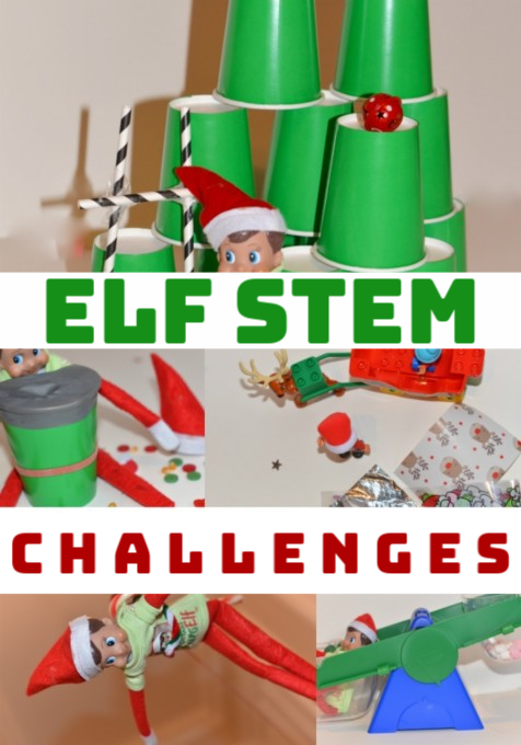 ELF STEM Challenges - try our fun ELF STEM challenges this Christmas #ChristmasSTEM #Scienceforkids #scienceisfun #ELFOntheshelf