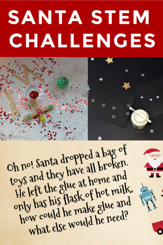 Santa STEM challenges - easy #ChristmasSTEM for kids