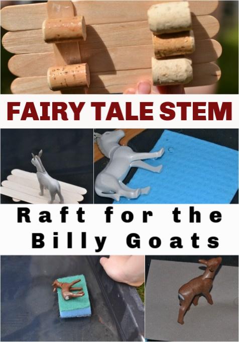FAIRY TALE STEM - rafts for the Billy Goats #STEMforkids #FairyTaleScience