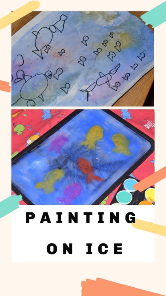 Painting on ice - preschool science experiment #scienceforkids #preschoolscience