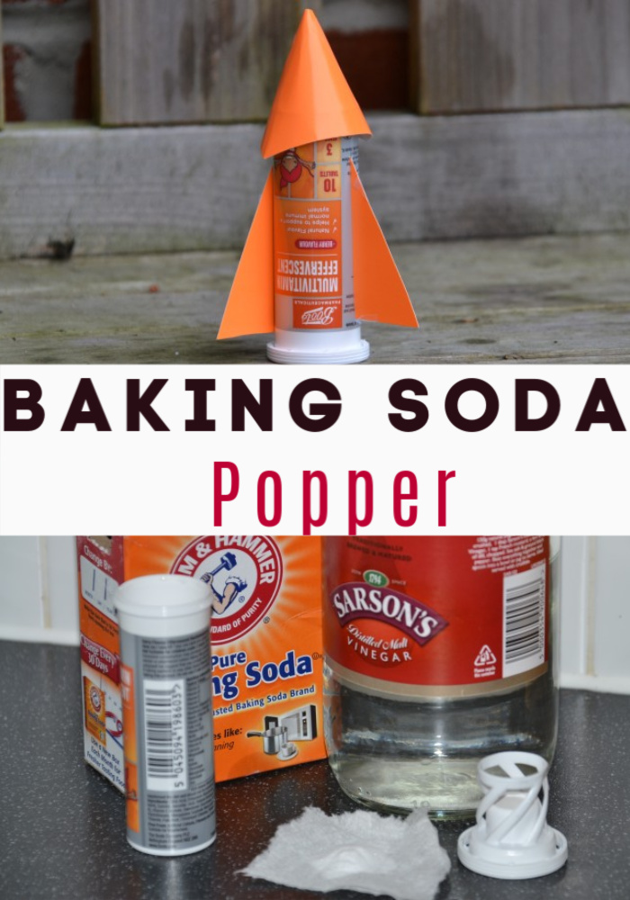 Fun Baking Soda Popper - use baking soda and vinegar to make a canister POP!! #scienceforkids #funscience