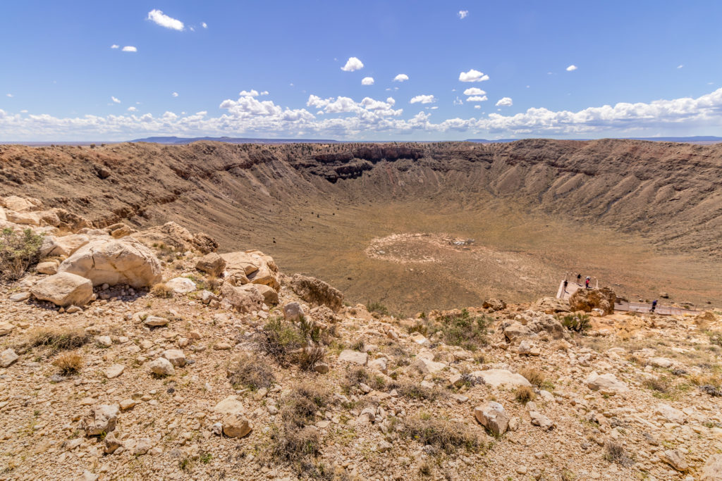 Barringer Crater also known as Meteor Crater in Arizona