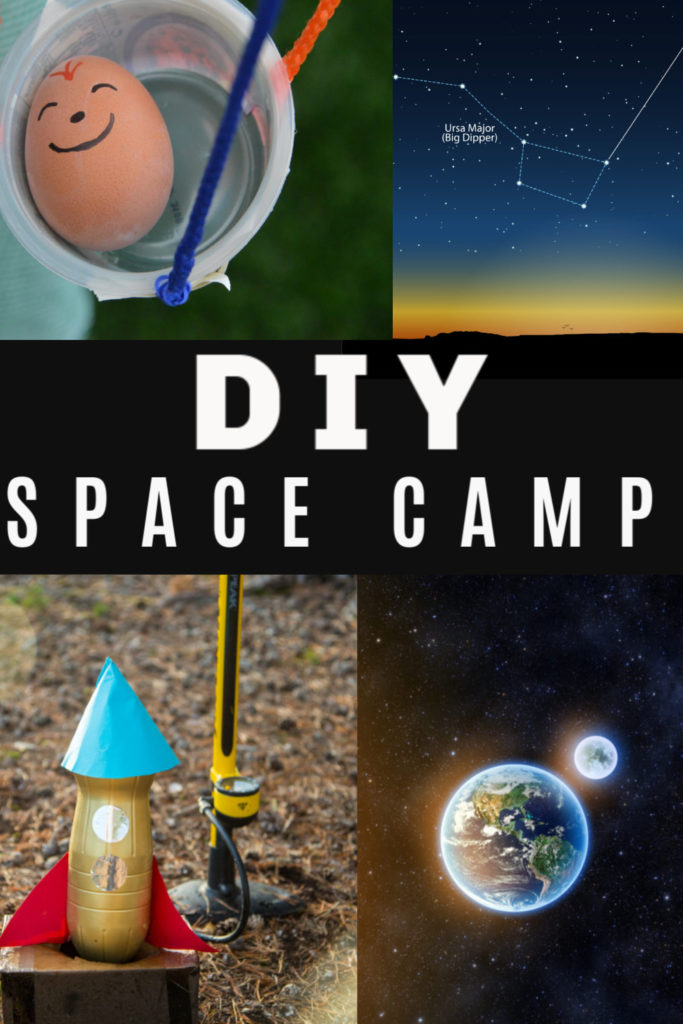 DIY Space Camp - 7 days of space science experiments for kids #spacescience #scienceforkids #greatscienceforkids