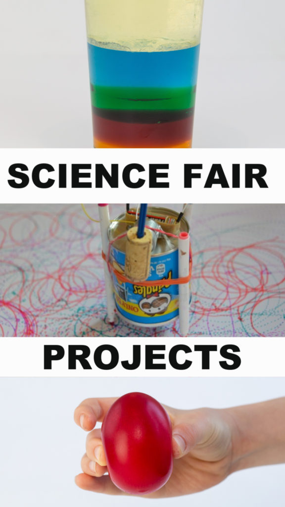 Awesome Science Fair Projects for kids of all ages. Make a density jar, drawing robots and lots more #sciencefair #scienceprojects #scienceforkids