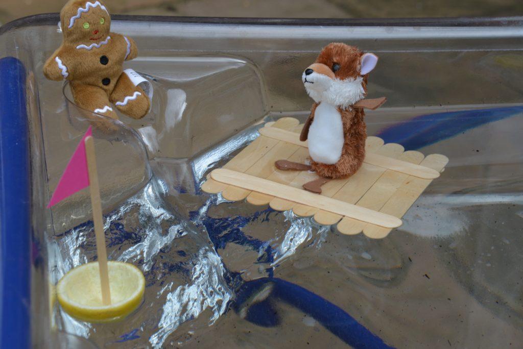 Raft or boat for the Gingerbread Man #Gingerbreadmanscience #scienceforkids