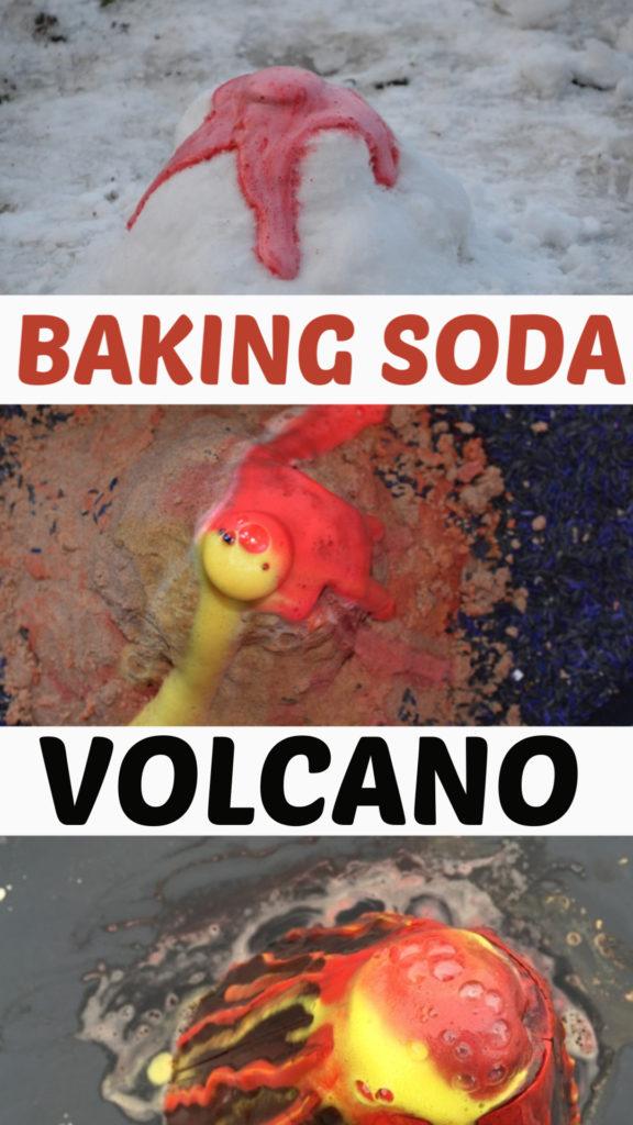 Easy baking soda volcanoes - great volcano experiment for kids #scienceforkids #scienceexperiments #coolscience #bakingsodaexperiments