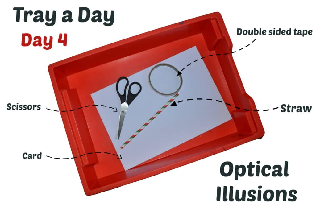 Tray a Day - easy optical illusion