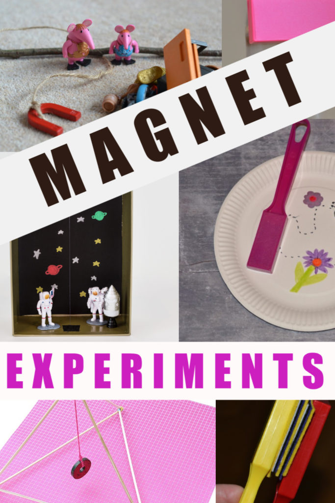 Easy Magnet Experiments for kids. Defy gravity, go magnet fishing, make a magnet maze and lots more magnet science #magnets #magnetscienceforkids #scienceforkids #magnetexperiments