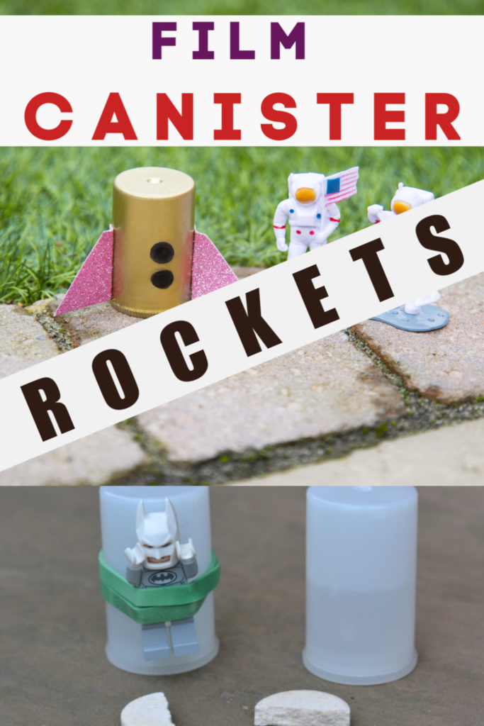 Film canister rockets. Fun explosive science experiment for kids. Learn about Newtons Laws of Motion with this exciting rocket investigation. #filmcanisterrocket #Newtonslawsofmotion #scienceforkids #forcesexperiments #forcesandmotion