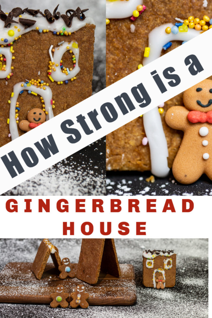 How strong is a gingerbread house - fun kitchen science activity for kids. Great for Hansel and Gretel or The Gingerbread Man #WorldBookDay #Scienceforkids #scieneSparks