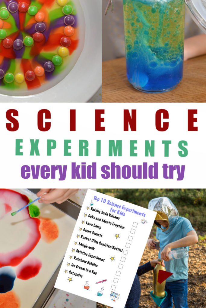 Top 10 science experiments for kids - science experiments every kid should do at least once #scienceforkids #scienceexperiments includes free downloadable checklist
