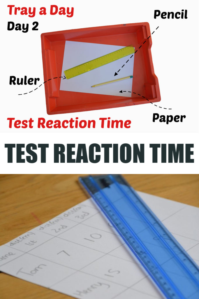 Easy reaction time test using a ruler - #reactiontimetest #scienceforkids