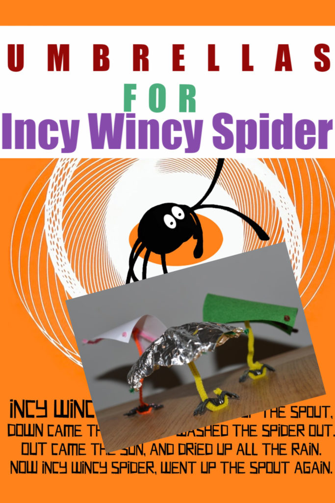 Make an Umbrella for Incy Wincy Spider - easy Early Years Science for kids #scienceforkids #EarlyYearsScience #IncyWincySpider #ItsyBitsySpider #NurseryRhymesforkids