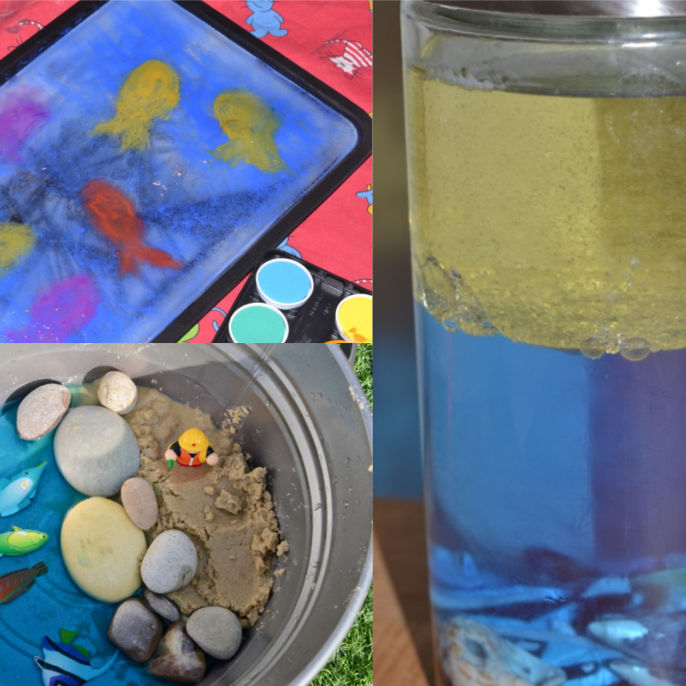 Under the sea science experiments for Early Years #EarlyYearsScience #scienceforkids