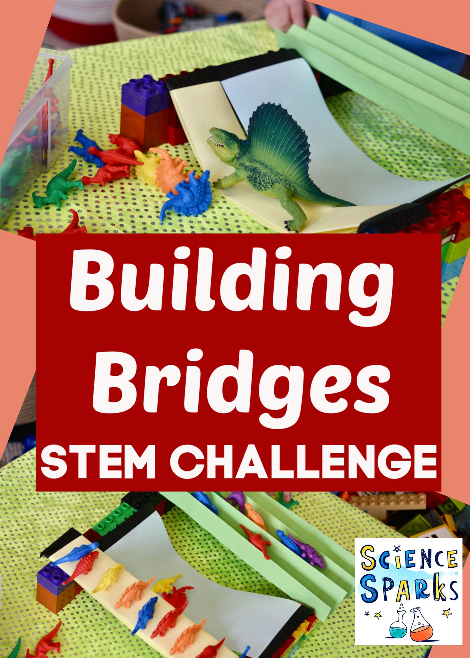 Easy building Bridges STEM Challenge - build and test paper brides #scienceforkids