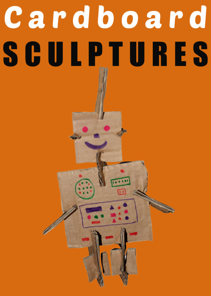 Easy cardboard sculpture STEM Challenge for kids #scienceforkids #TrayaDay