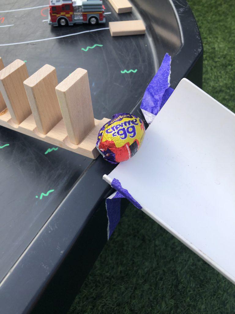 Egg chain reaction for kids