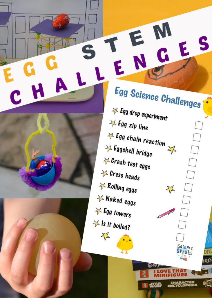 Fun egg STEM challenges for Easter - Easter science for kids #scienceforkids #scienceexperiments #easyscienceforkids #Easterexperiments #Easterscience #EasterSTEM