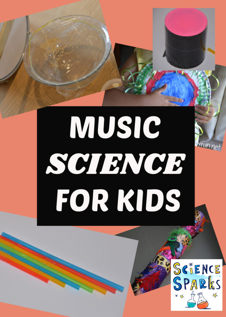 Easy musical science experiments for kids - make a tin can drum, straw flute, see sound and lots more easy music crafts and activities for kids #musicscience #musiccrafts #scienceforkids