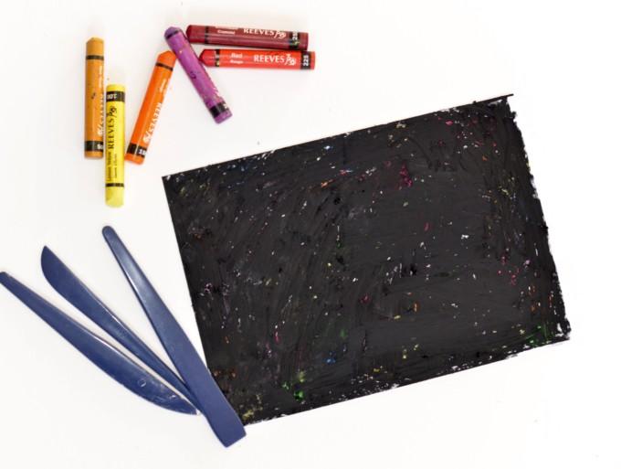 How to make homemade scratch art paper #scratch art