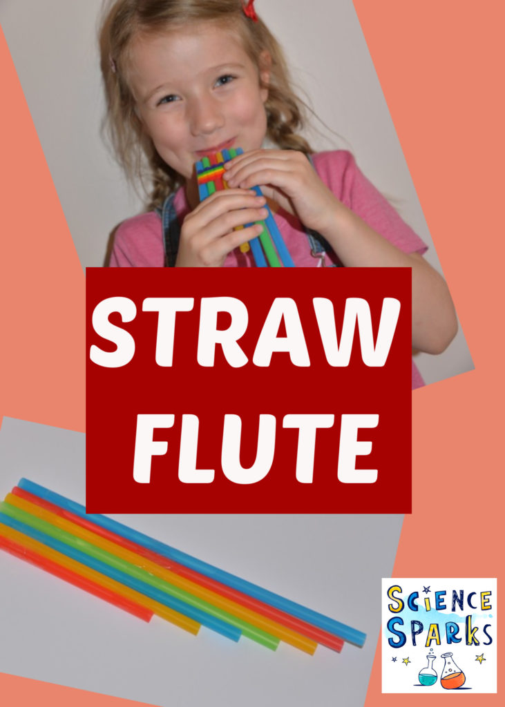 How to make a straw flute - easy music science experiment for kids #musicscience #scienceforkids