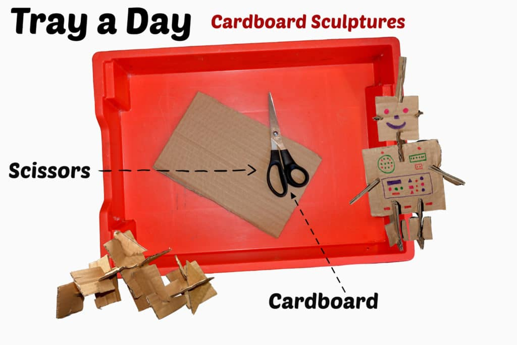 Materials needed to craft with cardboard