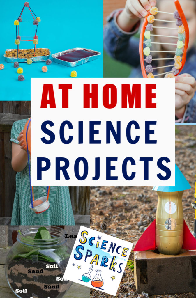 Easy at home science projects for kids! Easy science experiments for at home #athomescience #scienceathome #scienceforkids #scienceexperiments