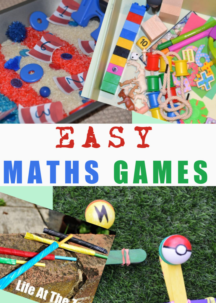 Easy maths learning games for kids - fun maths games for kids of all ages. Add some science to matns learning with these easy science and maths activities for kids #scienceandmaths #mathsforkids