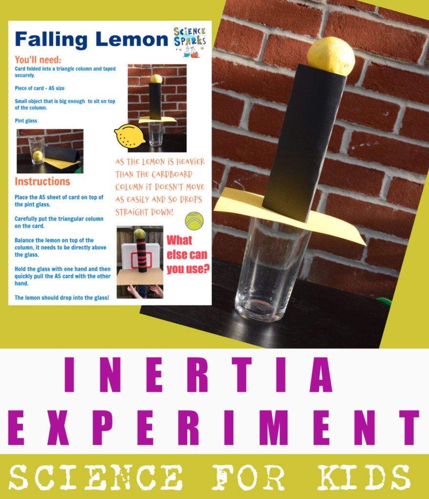 Easy experiment about Newton's first Law or the Law of Inertia - fun forces investigation for kids #scienceforkids #forcesexperiments