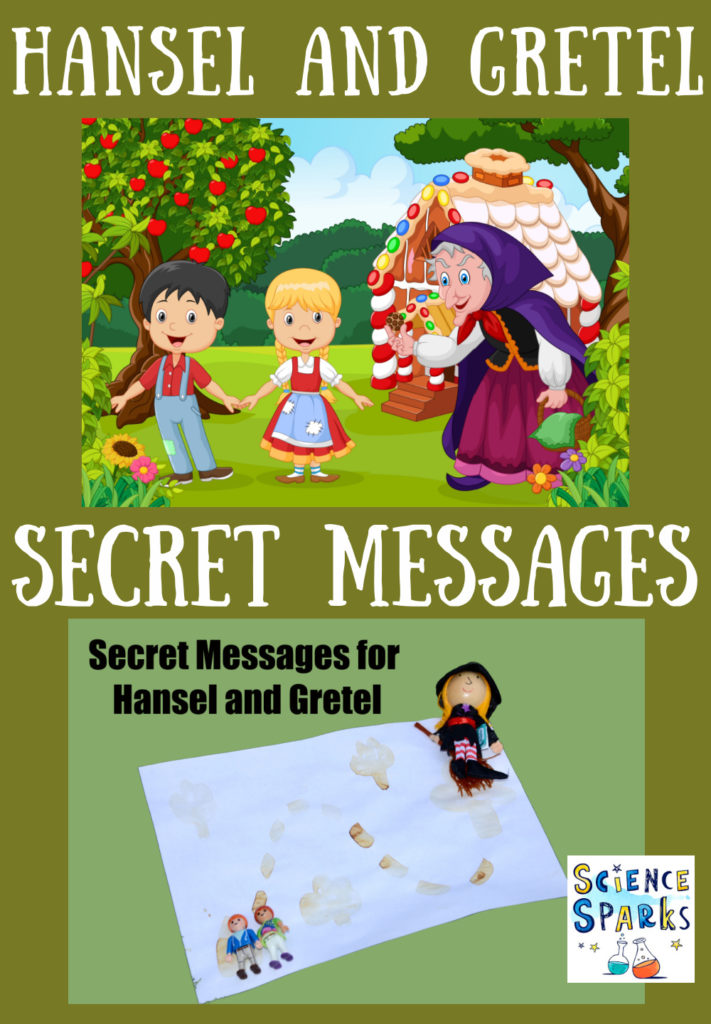 Leave and write secret messages for Hansel and Gretel - Fairy Tale science  investigation for kids