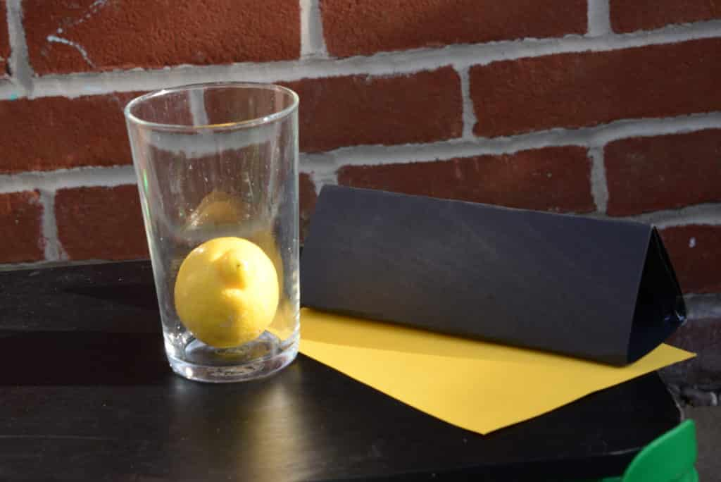 Inertia lemon drop experiment