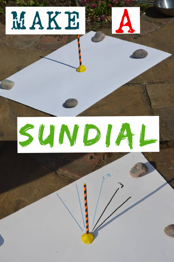 Homemade sundial made from a straw and plasticine. Fun summer science activity for kids #summerscience #scienceforkids #scienceexperiments