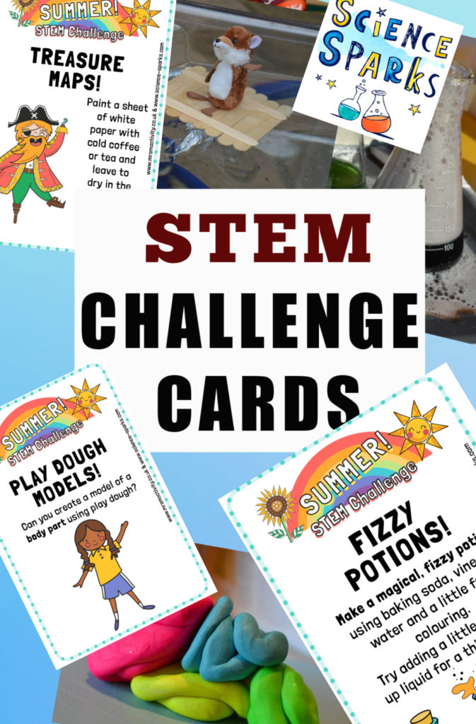 Easy summer STEM Challenges for kids with printable STEM Challenge cards #scienceforkids #summerscience #STEMChallenges