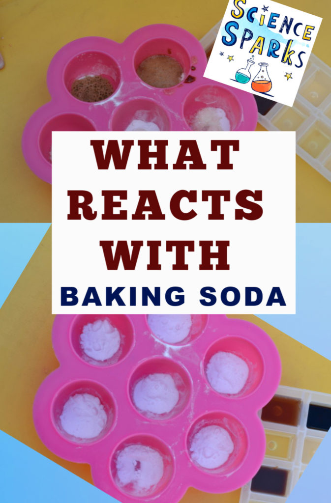 What reacts with baking soda? Find out with this easy science experiment  #sciencesparks #sciencexperiment #scienceforkids