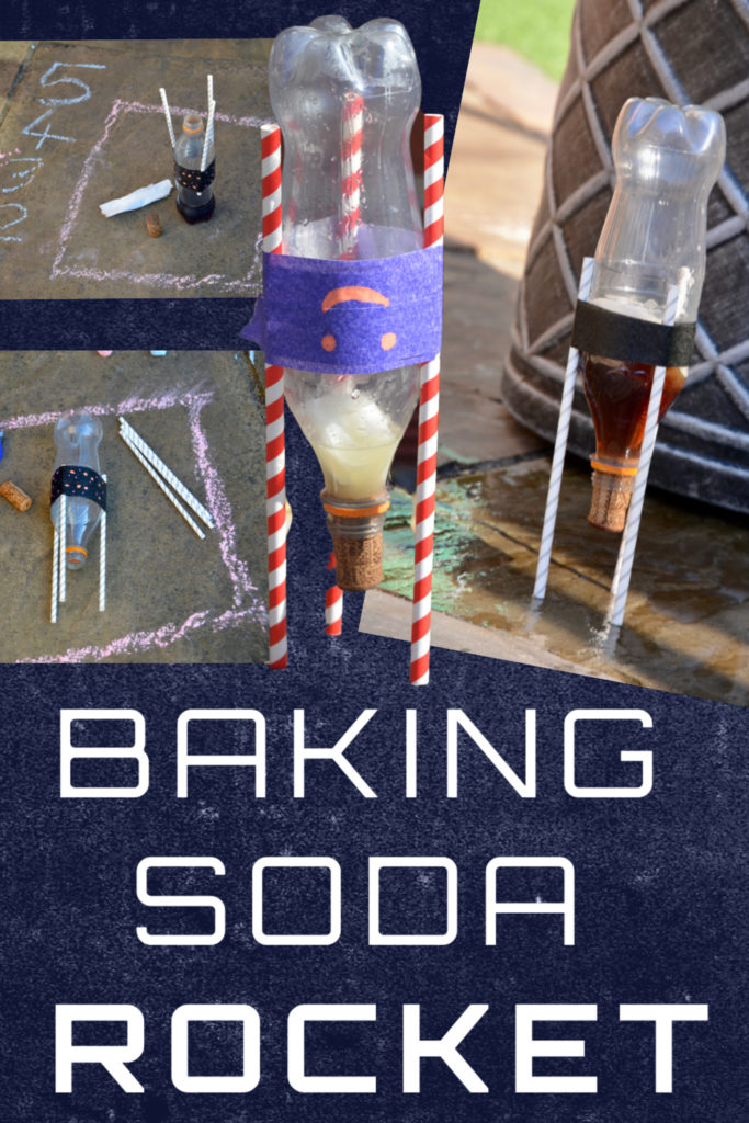 Learn about Newton's Third Law with this easy baking soda rocket! Fun rocket science experiment for kids #scienceforkids #rocketscience #bakingsodarocket
