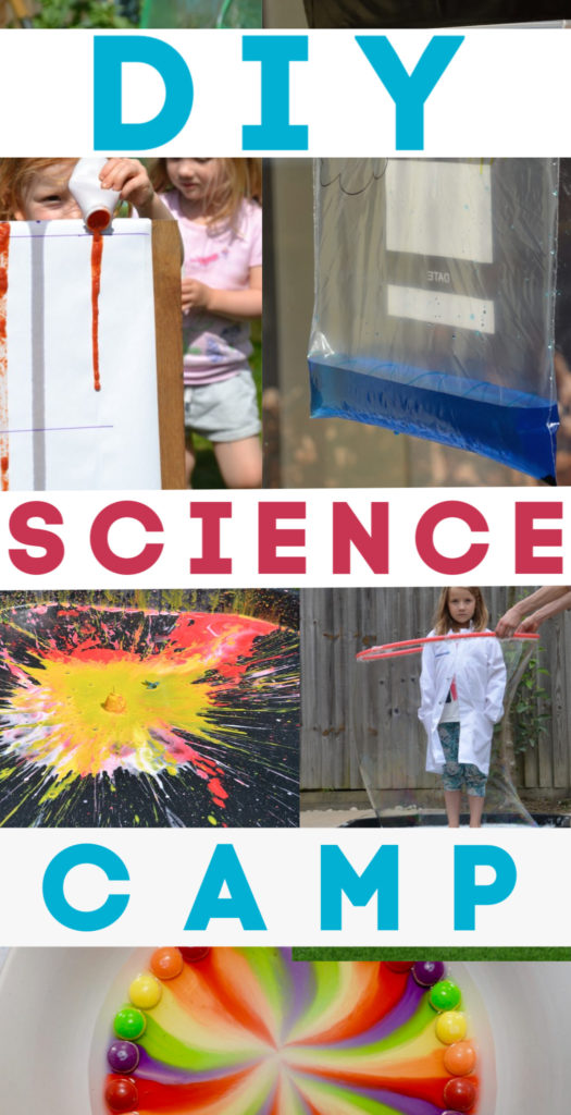 Three weeks of science fun with these easy summer science experiments for kids of all ages. Set up a backyard science camp #scienceforkids #funscience #summercamp