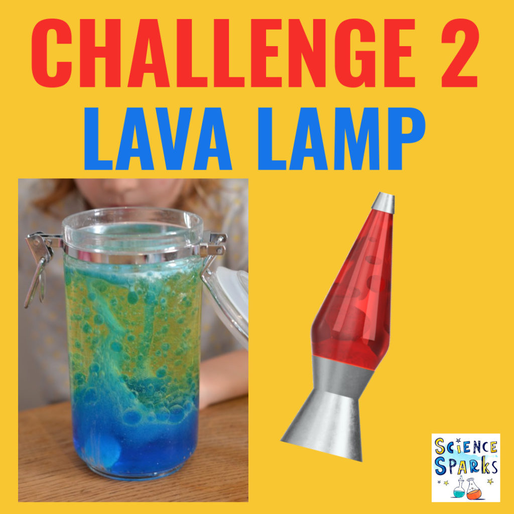 Lava Lamp Science challenge. Make a lava lamp as a summer science challenge.
