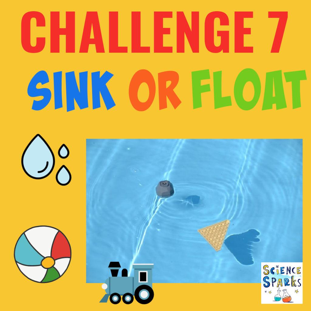 Sink or float summer science challenge