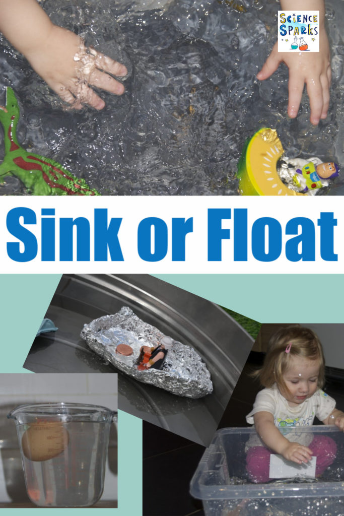 Collage or sink or float experiments for kids #scienceforkids #sinkorfloat #EYFS #ScienceforEYFS