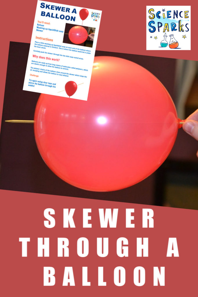 Skewer through a balloon #sciencetrick #balloonskewer