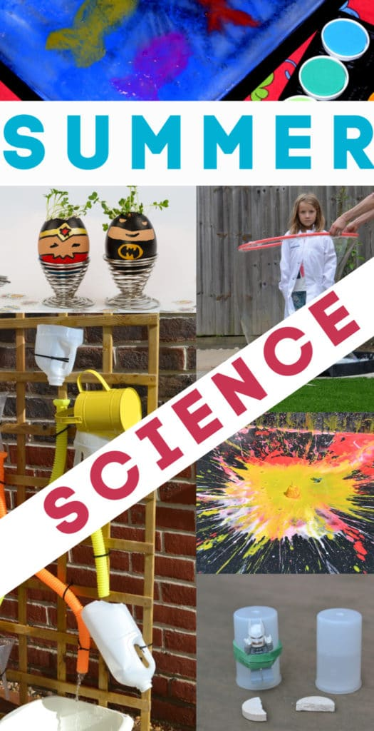 20 brilliant summer science experiments for kids. Make a water cycle model, sun pictures, paint with syringes and lots more summer science #summerscience #scienceforkids #makingsciencefun