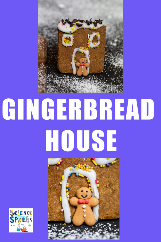 Build a gingerbread house experiment for kids