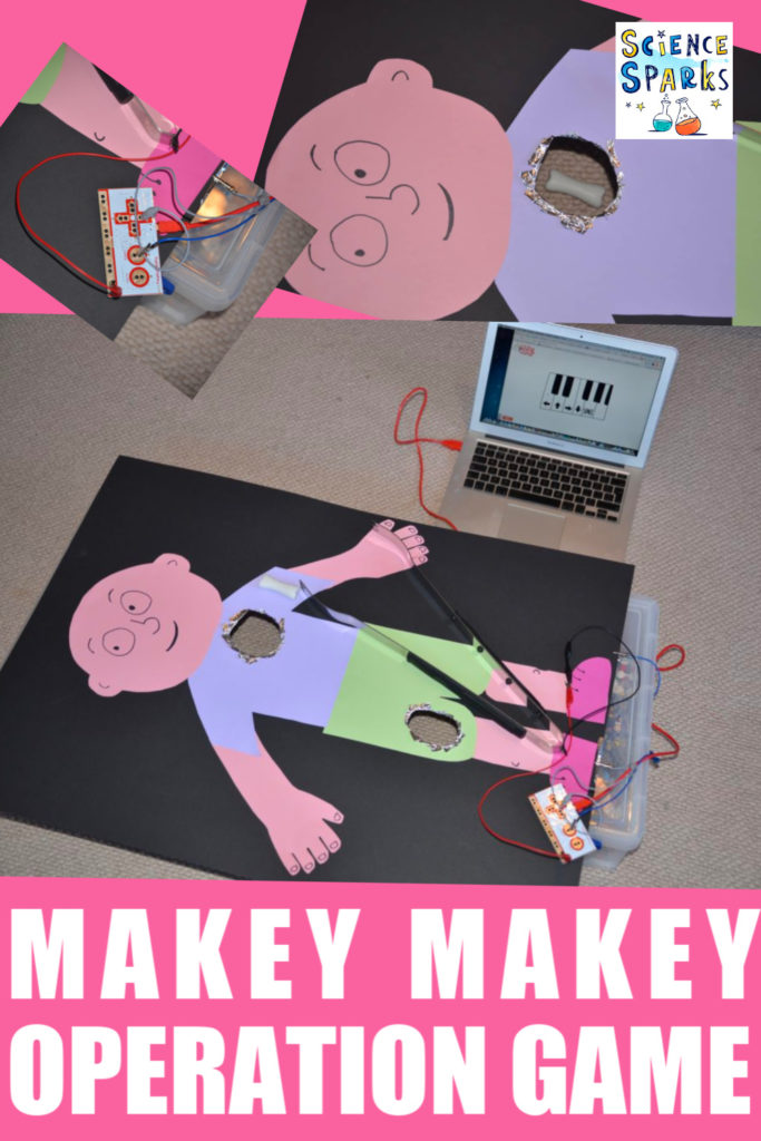 Giant Makey Makey Operation game - make a huge operation game with a Makey Makey! #MaekyMakeyProjects #techprojects #scienceprojects