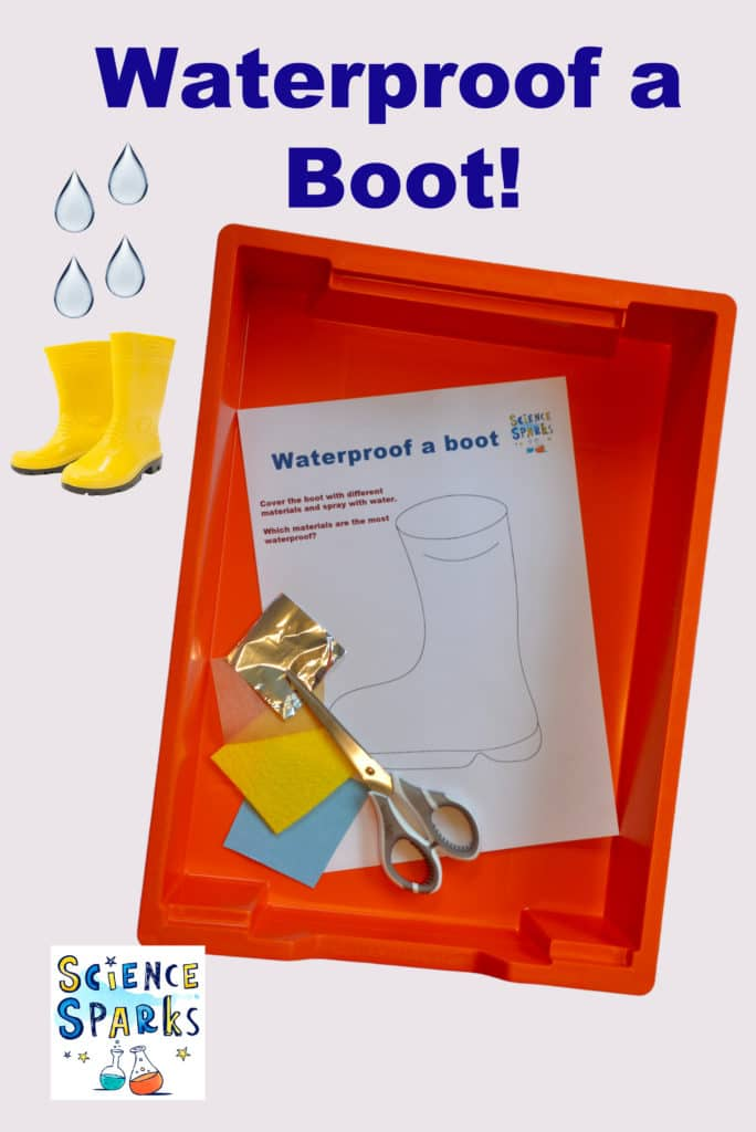 Waterproof a boot - fun waterproofing experiment #scienceforkids